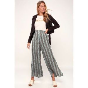 FREE PEOPLE | Take Your Tie Off Wide Leg Pants | S